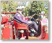 Richard Sargent (Driver)-       Dept. Chief William (Bill ) Cluff (Passenger)          They are in the 1923 Maxim Fire Truck that is now owned and maintained by the Northborough FireFighters Association